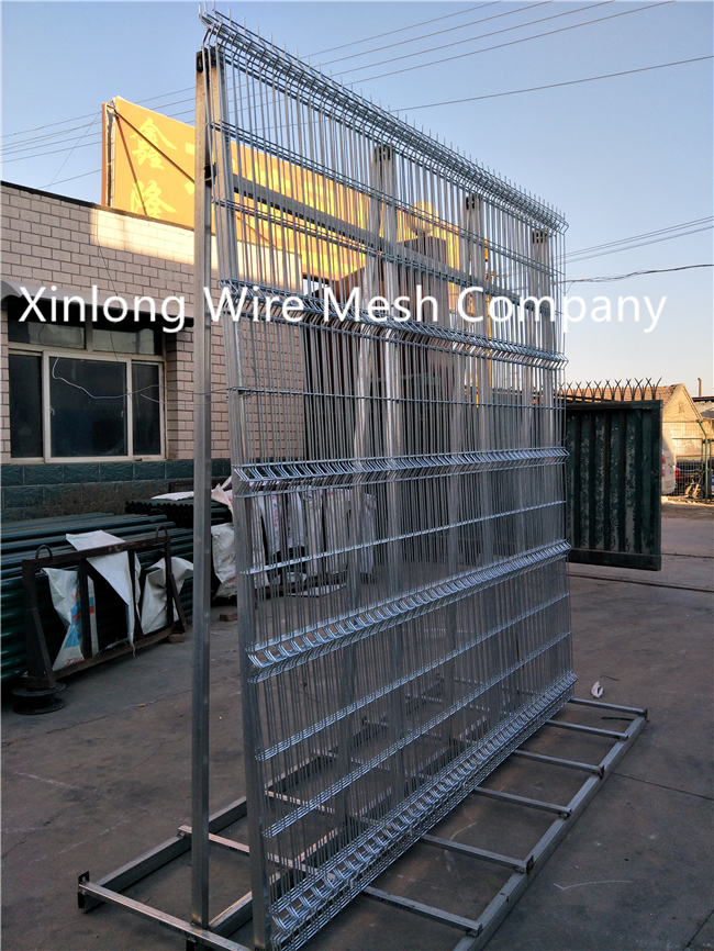 Green Black Vinyl Coated Welded Wire Fencing , Railway Garden Wire Fencing