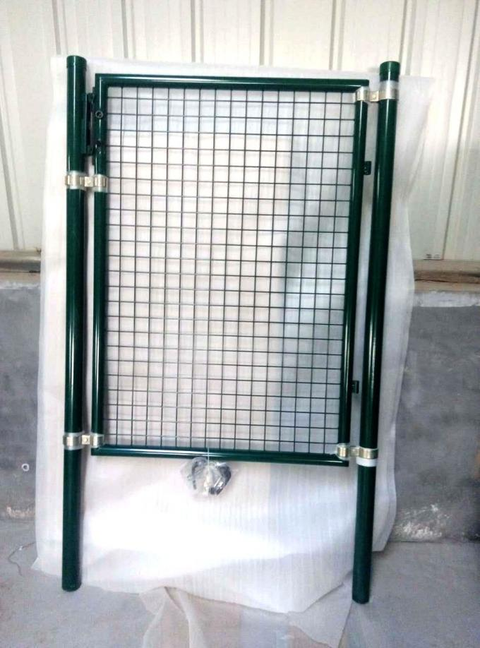 Public Grounds Welded Fence Gate Dark Green Color 60*60mm RAL 256 Colors