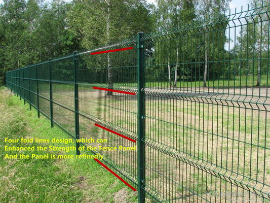चीन Green Black Vinyl Coated Welded Wire Fencing , Railway Garden Wire Fencing आपूर्तिकर्ता